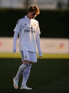 Martin Odegaard of Real Madrid Castilla looks down at the end of the Segunda Division B match between Real Madrid Castilla and Athletic Club B at Estadio Alfredo Di Stefano on February 8, 2015 in Madrid, Spain.