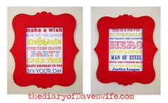 Superman Party Signs
