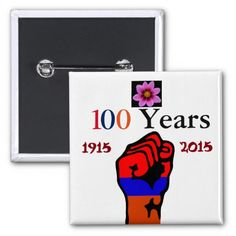 Armenian Genocide Button 2 Inch Square Button #ArmenianGenocide Visit www.zazzle.com/monstervox for more Armenian Genocide products