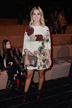 Lala Rudge in a Fall 2016 look to the Valentino Fall/Winter fashion show on March Valentino, Fall 2016, Front Row, Lotus, Fashion Ideas, Celebrity Style, Fashion Show, Fall Winter, March