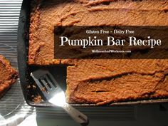 Pumpkin Bar Recipe with Superfood Ingredients! Gluten Free, Paleo, Coconut, Primal, GAPS, SCD, Gluten Free, Dairy Free.