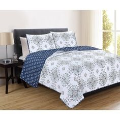 Home Fashion Designs Portia Collection 3-Piece Printed Quilt Set