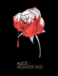 Minimalist Poster : Alice in Wonderland box art cover