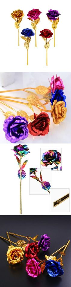 Valentine Gifts: Gift Decor Creative Rose Flower 24K Gold Foil Artificial Valentine S Day -> BUY IT NOW ONLY: $0.99 on eBay!