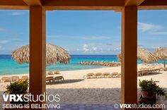 A striking view of Parasasa #Beach and the turquoise blue water of the Caribbean Sea from #Hilton Curacao.