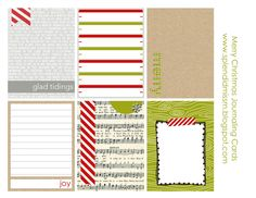 Project Life FREE printable journaling cards via The Splendidly Imperfect Miss M!