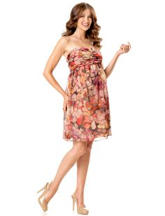 Strapless Removable Straps Included Maternity Dress