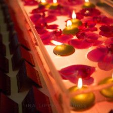 Floating petals and candles