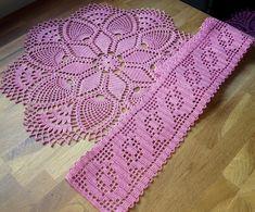 Filet Crochet, Crochet Top, Free Crochet Doily Patterns, Crochet Doilies, Mandala, Knitting, Crafts, Floor Mats, Crochet Table Runner