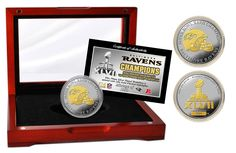 Ravens Super Bowl XLVII Champions 2-Tone Coin ManCave Gifts Shopping CLICK IMAGE TO BUY NOW $99.95
