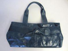 Roberta Gandolfi Purse Handbag Blue Leather #RobertaGandolfi #Baguette