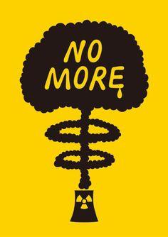 Japanese Poster: NO MORE. Aiko Goto. 2011 - Gurafiku: Japanese Graphic Design
