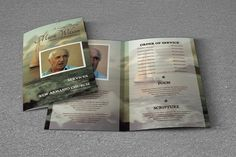 Editable Funeral Template | Memorial Program | Obituary Program | Photoshop and MS Word Template | Instant Download - FP-077 http://etsy.me/2EjEQ9W  #funeral #program #template #obituary