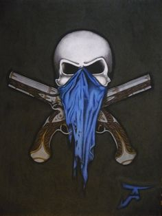 skull with bandana over face tattoo - Google Search