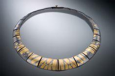 Pendant Jewelry, Jewelry Art, Fine Jewelry, Jewelry Design, Metal Necklaces, Unique Necklaces, Philadelphia Museum Of Art, Ceramic Jewelry, Metal Art