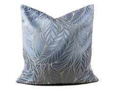 Blue Silk Euro Sham 24x24 Pillow cover, Light Sky Blue Silk Pillow, Embroidered Kilim Pillow, Seidenkissen, Coussin géométrique