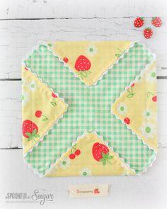 Fabric Gift Pouch Sewing Tutorial www.aspoonfulofsugardesigns.com