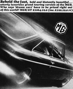 MGB GT Car Print 1967