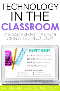 If you're using technology in the elementary classroom, you know you need organization and management to keep activities running smoothly! Click the picture to read five simple tips for keeping your students on task and respectful while using technology. #technologyintheclassroom #classroomtechnology #technologytips