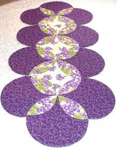 Table Runner Quilt  Table Topper Centerpiece  Grape @KeriQuilts