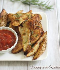Crispy Rosemary Baked Fries by Runningtothekitchen