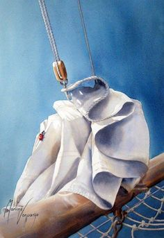 remove the sails? Fabric Painting, Painting & Drawing, Paint Fabric, Watercolor Sea, Watercolor Paintings, Marines, Sailing, Lighthouses, Nautical