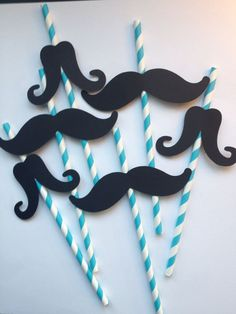 12 Blue Mustache Party Straws,Little Man First Birthday,Baby Showers,Mustache… Moustache Party, Mustache Theme, Mustache Birthday, Baby Birthday, First Birthday Parties, Birthday Party Themes, First Birthdays, Birthday Ideas, Baby Boy Shower