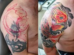 Tattoo Cover Up Ideas! Just as a phoenix rises from the ashes born anew, a tattoo you no longer desire can be made into something beautiful! Here are 60 Tattoo Cover Up Ideas! Shoulder Cover Up Tattoos, Tattoo Sleeve Cover Up, Cover Tattoo, Sleeve Tattoos, Old Tattoos, Black Tattoos, Body Art Tattoos, Tennessee Tattoo, Pixel Tattoo