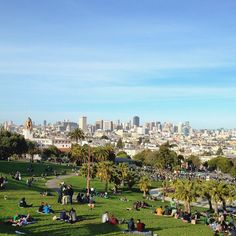 Mission Dolores Park -- the most fantastic place to chill the fuck out