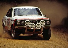 Grant Whiting and Ray Damitio, 1985 Olympus Rally USA Corolla Car, Toyota Corolla, Classic Sports Cars, Classic Cars, Expedition Vehicle, Sweet Cars, Rally Car, Retro Cars, Toys For Boys