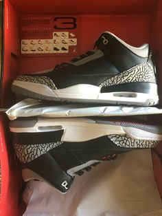 8a0e95248c3 Brand New in a Box Retro Jordan 3s Black Cement #fashion #clothing #shoes
