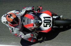 Anthony Gobert on the Bimota SB8R WSBK.  2000.