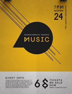Get the Indie Rock Concert Flyer Template Indie Festival, Music Festival Logos, Music Flyer, Concert Flyer, Print Design, Logo Design, Minimal, Psd Flyer Templates, Rock Concert