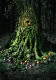 Tree Stump mushroom ring (No citation of artist given. :-<)