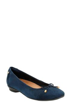 Candra Light Navy Suede - Extra Wide Width Shoes for Women - Clarks® Shoes
