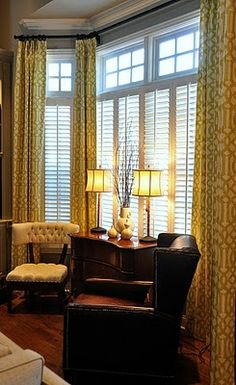 Love How They Did The Window Treatment Bay Treatments Living Room