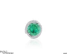 Paolo Costagli Mint Tourmaline and Diamond Cocktail Ring