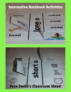 #Freebie Friday ~ Vowel Sorting Short o & Long o Interactive Notebook Activity! #TPT #TeachersFollowTeachers www.FernSmithsClassroomIdeas.com