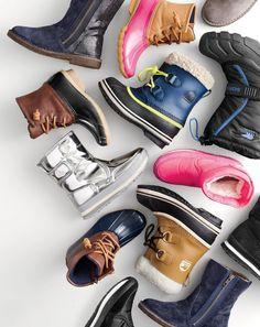 J.Crew girls' zip chalet boots with glitter, girls' Sperry® saltwater boots…