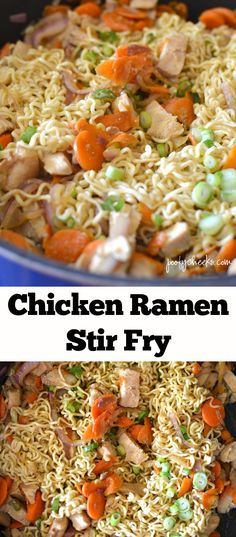 This Chicken ramen Stir Fry is the perfect easy dinner idea for busy moms!