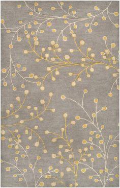 grey/yellow rug