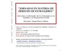 Jornadas En Materia De Derecho De ExtranjeríA  . Cruz Roja