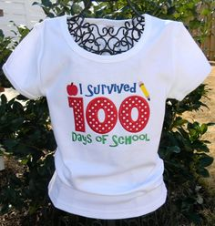 100 Days of School Shirt. $22.00, via Etsy.