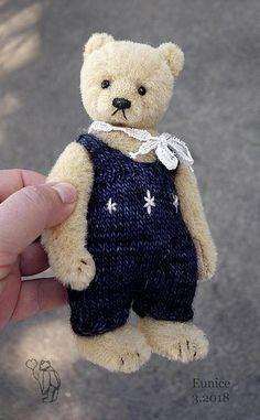 Eunice Miniature Alpaca Artist Teddy Bear from Aerlinn Bears