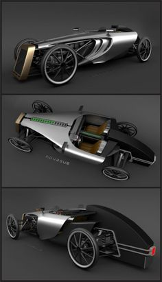 ECO concept car. Tecnologia moderna e estilo retrô. Do designer Petr Novague.