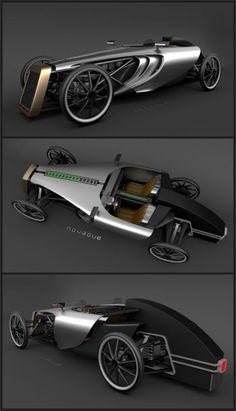 ECO concept car. Tecnologia moderna e estilo retrô. Do designer Petr Novague.