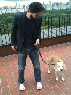 Keanu Reeves  (What a lucky dog!!)
