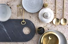 <p>Lightly is an Australian independent design studio, run by Cindy-Lee Davies. From marble cheeseboards, brass and copper serving bowls to speckled stoneware plates, the 'Infinitude' product range en