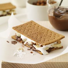 Banana-Nutella S'Mores | Upgrade the campfire classic by adding sliced bananas.