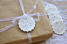 Dainty Thank You gift tags wedding thank you ornaments